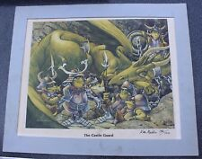 Rare Vintage The Castle Guard Ken Macklin Artist Signed Art Print LE 150/1000