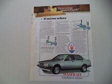 advertising Pubblicità 1985 MASERATI BITURBO 425