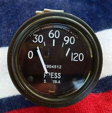 **New! Stewart Warner Oil Pressure Gauge 0-120 psi 7954512 SW508A**
