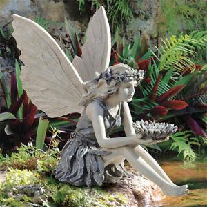 The Sunflower Fairy Statue Beautiful Angel Sculpture Realistic Figure Ornamen8