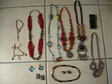 Lot bijoux fantaisie : collier - sautoir - boucle d'oreilles - bracelet