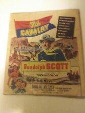 Vintage 1950's 7th Calvary Randolph Scott Movie Print Bt Technicolor