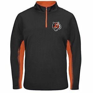 Cincinnati Bengals NFL Mens 1/4 Zip Lightweight Fleece Black Big & Tall Sizes