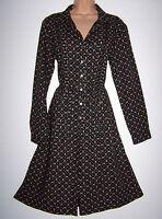 LAURA ASHLEY VINTAGE FINE VISCOSE & WOOL BLEND FLORAL RETRO DRESS, 14 UK BNWT