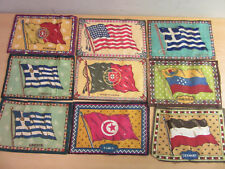 """New listing Lot of 9 antique Tobacco Felts with countries flags 8.5"""" x 5.5"""" #3"""