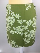 8f51a6faed224 AE American Eagle Women Size 4 Green Floral True Wrap Skirt Hawaiian Style  Lined