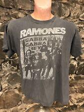 Rare Vintage Ramones Gabba Gabba Hey T Shirt Single Stitch Tee Concert