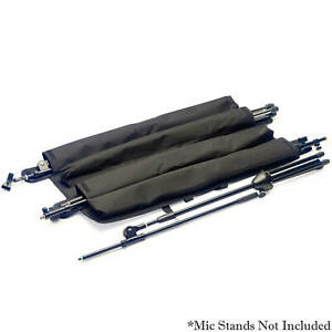 Stagg Strong Black Nylon Wraparound Mic Microphone Stand Bag For 4 Stands
