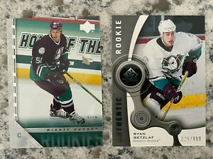2005-06 Upper Deck Young Guns #452 of Ryan Getzlaf + Bonus