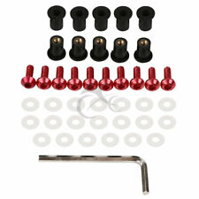Windscreen Windshield Red M5 Bolts Screws For Honda CBR600RR CBR900RR CBR1000RR