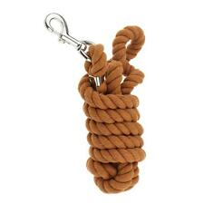 Horse Lead Ropes Cotton Weave Rein Halters Antislid Braided 2.5 m Brown
