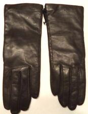 Ladies Grandoe Women's 100% Cashmere Lined Genuine Leather Gloves,Chocolate, L