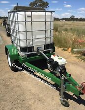 1000lt ibc water tank trailer fire unit honda pump 36m hose reel