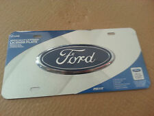 License Plate FORD 3D Logo Stainless Steel License Plate Great Ciber deals