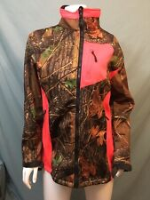Trailcrest Women's Camo Custom XRG Soft Shell Jacket Sz Large Neon Hot Pink EUC