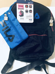 Fila Hailee Kids Small  Backpack  Blue and White 2 PC set