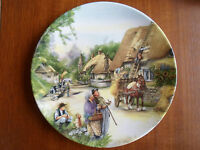 "Royal Doulton Plate ""The Thatcher"" by Susan Neale ""Old Country Crafts"" 1990"