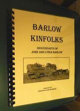 Genealogy, Barlow Kinfolks, Westward Expansion, North Carolina, Mississippi