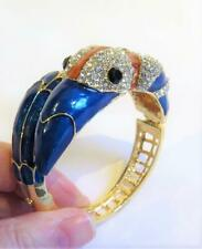 T285 STUNNING ENAMELLED TOUCAN BANGLE BOXED