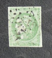 TIMBRES DE FRANCE : 1870/71 YVERT N° 42B Oblitéré - 5 CTS VERT-JAUNE CERES - TBE