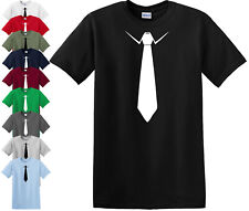 TIE T SHIRT Funny PRESENT TUXEDO Stag Fancy Dress Party Suit (TIE,TSHIRT) Top