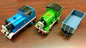 Thomas & Friends Bachmann Electric HO TRAIN SET w THOMAS, PERCY, CAR, TRACK PWR