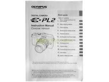 Olympus E-PL2 genuine instruction manual. English.