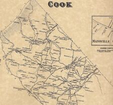 Cook Mannsville Stahlstown Pleasant Grove PA 1867 Map Landowners Names Shown