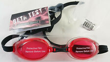FINIS Lightning Swim Goggles - ULTRA RARE BETA TEST in RED / BLACK! NEW! UNUSED!