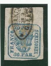 Rumänien, Fürstentum, Principality of Romania, Mi 10 I x, Typ I,  Doppeldruck!!