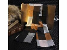 Christmas Luxury Silk Blend Scarf Modern Art Brown Square Fashion Accessory SALE