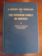 A History and Genealogy of the Cockrum Family in America, Mostly Virginia Book