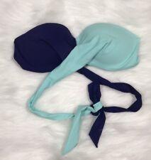 Women's Blue Victoria's Secret PINK Wrap Bandeau Bikini Top Size Large