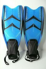 Deep See Aqua Glide Split Snorkeling Fins S/M Dark Blue and Black Fits 5-8.5