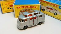 Matchbox Lesney No 34c Volkswagen Hi Top Camper First Edition With E Box- VGC