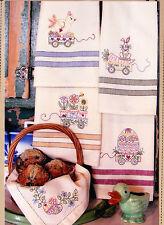 PATTERN - Easter Tea Towels - fun stitchery PATTERN - Bird Brain