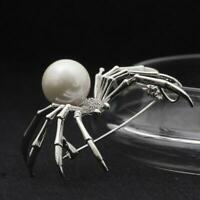 Vintage Insect Spider Coat Dress Scarf Brooch For Mens Jewelry Pin We Y5U9