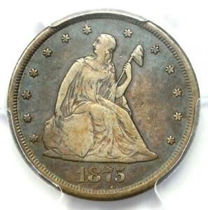 1875-CC Twenty Cent Piece 20C - Certified PCGS VF Detail - Rare Carson City Coin