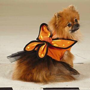 Martha Stewart Pets Monarch Butterfly Dog  Halloween Costume Large New