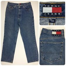 New listing Vintage Tommy Jeans Mens Straight Leg 33x30 Large Flag Patch