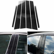 Carbon Fiber Car Window B-pillars Molding Trim Sticker Decal For BMW E90 2005-12