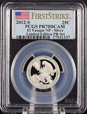 2012 S Silver Quarter Limited Edition El Yunque NP PCGS PR70 DCAM First Strike