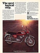 1968 Suzuki T-305 Motorcycle Raider - Original Advertisement Print Art Ad J640