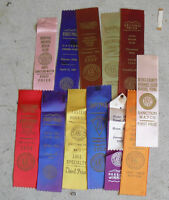 Lot of 13 Vintage 1957 - 61 AKC Boxer Club Dog Award Winner Ribbons