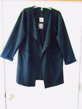 a41da8b7e84 NWT Bobeau M Nordstrom Black Opn Frnt Coat Jacket Tunic w Collar 34