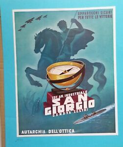 PUBBLICITÀ/MANIFESTO/LOCANDINA 1939 SOC.AN.INDUSRTIALE SAN GIORGIO GENOVA SESTRI