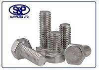 M6 X 10 STAINLESS STEEL HEX SET BOLT SCREW A2 STAINLESS STEEL SETSCREW