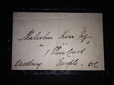 1st BARON WESTBURY - POLITICIAN / LAWYER / JUDGE - EXCELLENT SIGNED ENVELOPE