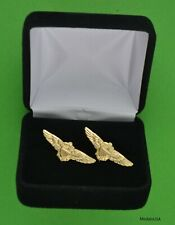 Navy, Marine Corps Pilot Wing Cuff Links in Presentation Gift Box - Aviator
