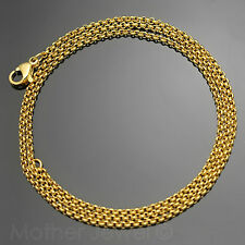 50CM YELLOW GOLD IP STAINLESS STEEL 2MM ROLO CHAIN MENS WOMENS NECKLACE